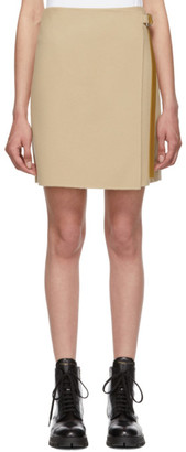 Helmut Lang Beige Wrap Miniskirt