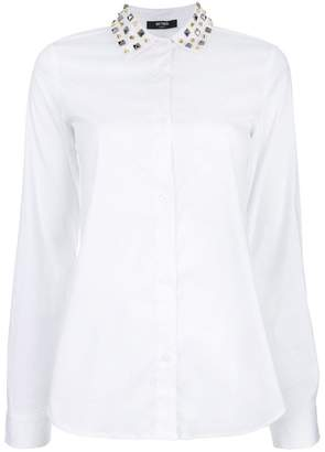 Twin-Set studded collar shirt