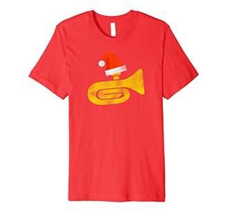 Funny Tuba Santa Hat Cute Christmas Gift T Shirt