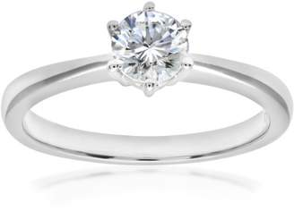 N. Naava EGL Women's 18 ct White Gold 0.56 ct Certified Diamond Solitaire Engagement Ring, Size J, GSI1