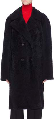 Yves Salomon Double breasted shearling coat