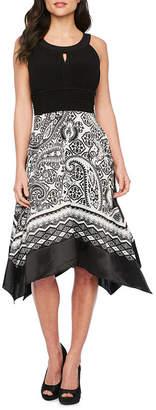 Scarlett Sleeveless Paisley Fit & Flare Dress