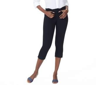 NYDJ 5-Pocket Capri Jeans w/ Released Hem - Black