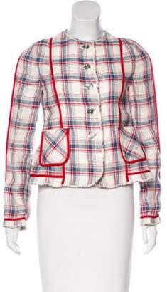 Dolce & Gabbana Plaid Linen Jacket