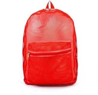 K-Cliffs Mesh Backpack See through Student School Bag Bookbag Mesh Net Daypack