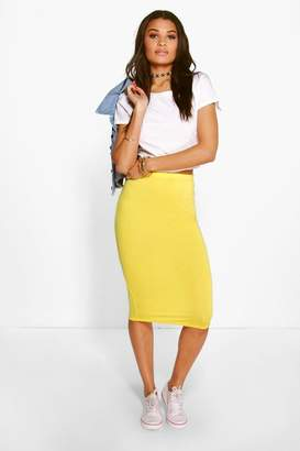 boohoo Gemma Basic Jersey Midi Skirt