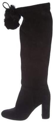 Michael Kors Suede Mid-Heel Boots