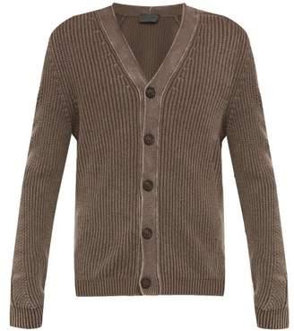 Iris von Arnim Jason V Neck Ribbed Knit Cashmere Cardigan - Mens - Brown