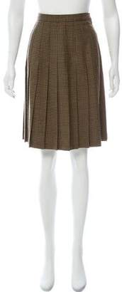 Burberry Pleated Knee- Length Skirt