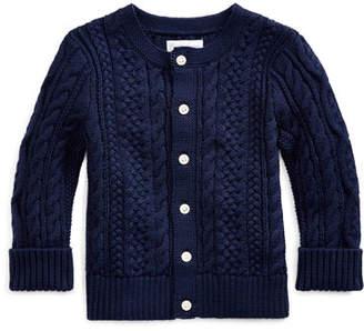 Ralph Lauren Childrenswear Cotton Cable-Knit Cardigan, 6-24 Months