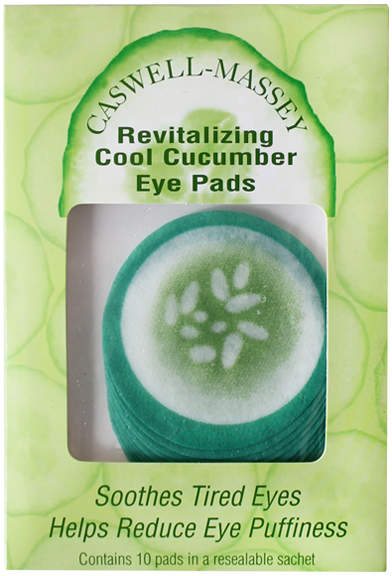 Caswell-Massey Cucumber Eye Pads Pack by 10 Pads)