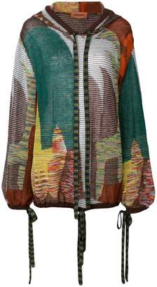 Missoni collage knitted top