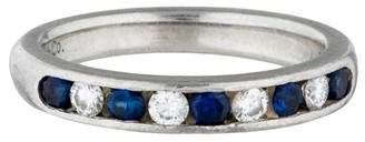 Tiffany & Co. Platinum Diamond & Blue Sapphire Half Eternity Band $1,195 thestylecure.com