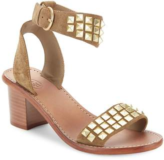 Ash Women's Pearl Studded Leather Sandals