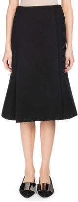 Proenza Schouler A-Line Boucle Suiting Midi Skirt