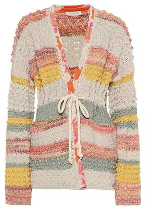 Etro Jacquard cotton and linen cardigan
