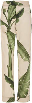 Johanna Ortiz Respectful Nature Straight-Leg Cotton-Sateen Trousers