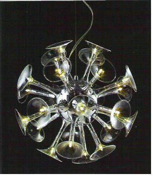 Linea Bellagio Twenty-Four Light Pendant in Chrome