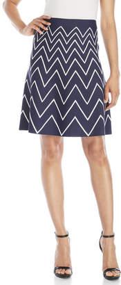 pink tartan Chevron Knit Skirt $295 thestylecure.com