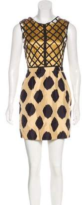 Sass & Bide Silk Printed Mini Dress