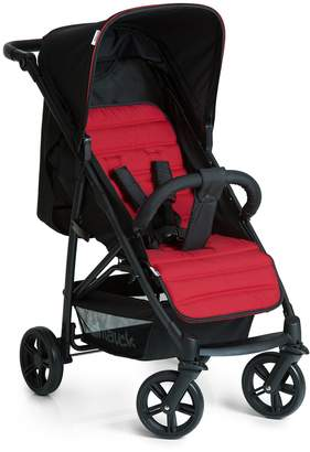 Hauck Rapid 4 Four Wheel Pushchair with One Hand Fold Small Foldable Buggy with Lying Position Height Adjustable Push Handle from Birth to 25 kg Bumper Bar