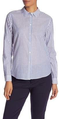 Scotch & Soda Striped Button Front Slim Fit Shirt