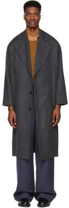 Studio Nicholson Grey Wool Overcoat