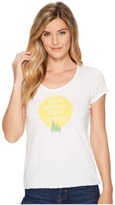 Life is Good Outdoors Makes Me Happy Smooth Scoop Tee Women's T Shirt