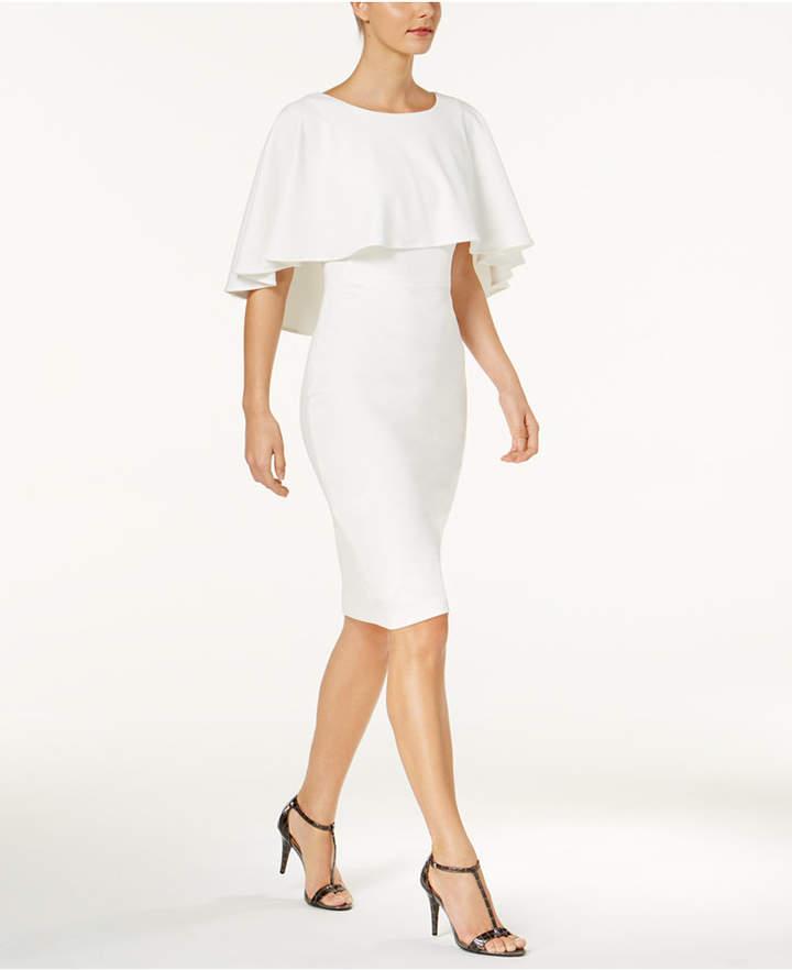 Calvin Klein Popover-Cape Sheath Dress
