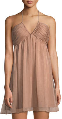 The Jetset Diaries Margot Halter-Neck Mini Dress