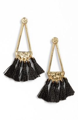 Women's Rebecca Minkoff Geo Tassel Chandelier Earrings $58 thestylecure.com
