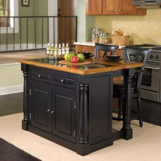 Home Styles Monarch 3-pc. Kitchen Island with Granite Top & Counter Stools Set