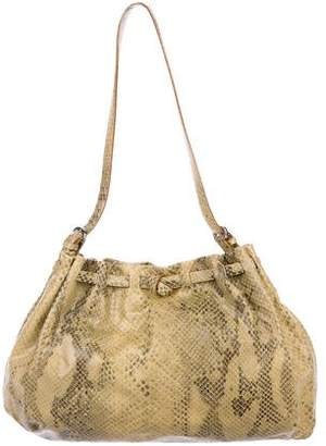 Francesco Biasia Leather Animal Print Shoulder Bag
