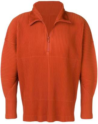 Issey Miyake Homme Plissé pleated zipped jumper