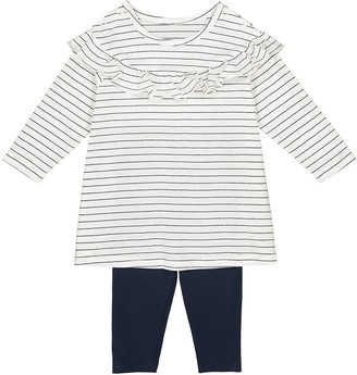 La Redoute COLLECTIONS Ruffled Tunic and Leggings, 1 Month-3 Years