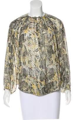 Isabel Marant Silk Long Sleeve Blouse