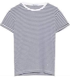 Alexander Wang Striped Cotton-Jersey T-Shirt