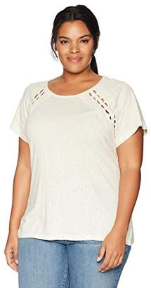 Lucky Brand Women's Size Plus Cut Out TEE