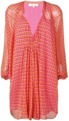 Diane von Furstenberg diamond print blouse dress
