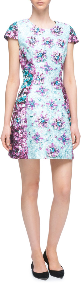 Mary Katrantzou Rick Printed Satin Dress