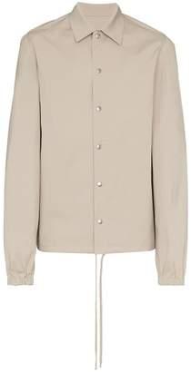 Rick Owens snap button long sleeve cotton blend shirt jacket