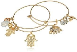Cara Set Wire Charm Bracelet