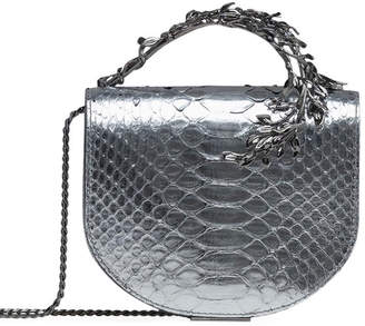 Ralph & Russo Eclipse Metallic Python Clutch Bag, Silver