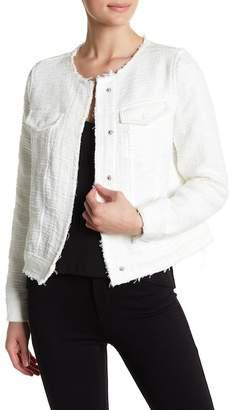 Catherine Malandrino Frayed Trim Jacket