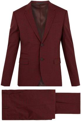 Valentino Notch-lapel gingham wool-blend suit