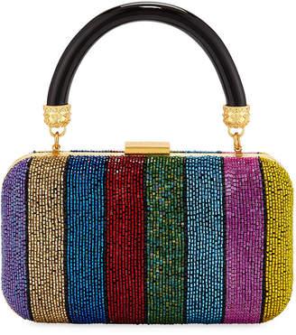 Alice + Olivia Shirley Rainbow Large Clutch Bag