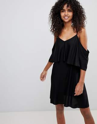 Monki Cami Strap Cold Shoulder Dress