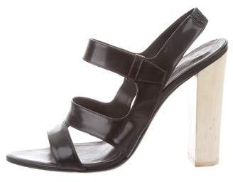 Narciso Rodriguez Leather Slingback Sandals