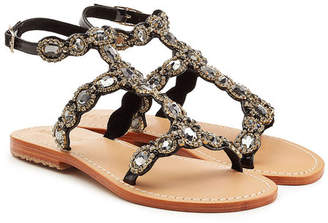 Mystique Embellished Leather Sandals