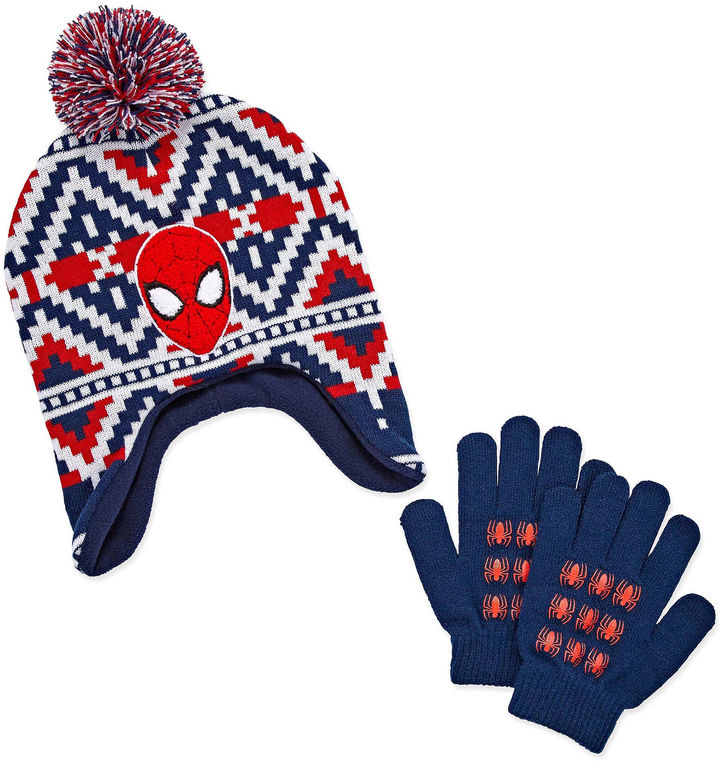 LICENSED PROPERTIES 2-pc. Spiderman Hat & Glove Set-Preschool Boys